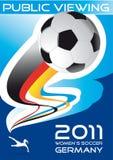 Fußball der Frauen, allgemeine Betrachtung, Plakat lizenzfreie abbildung