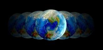 Fußball - die Mitte der Welt Stockbild