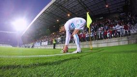 Fußball-Ecktritt stock footage