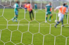 Fußball - ein abstrakter Hintergrund. lizenzfreie stockfotos