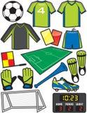 Fußball-Einzelteile Lizenzfreies Stockfoto