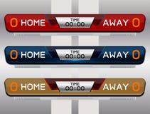 Fußball-Ergebnis-Sendungs-Grafik-Schablone stock abbildung