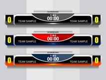 Fußball-Ergebnis-Sendungs-Grafiken stock abbildung