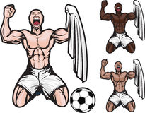 Fußball-Feier Stockbilder