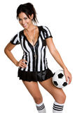 Fußball-Frau Stockfotos