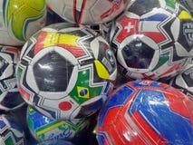 Fußball-Fuß-Bälle Lizenzfreie Stockfotografie
