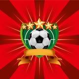 Fußball-Fußball-Emblem Stockbild