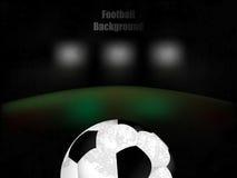 Fußball, Fußball, Retro- Illustration des Hintergrundes mit Ball Lizenzfreie Stockfotos