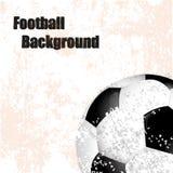 Fußball, Fußball, Retro- Illustration des Hintergrundes mit Ball Stockfoto