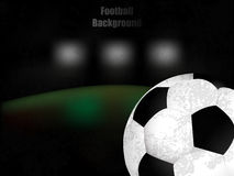 Fußball, Fußball, Retro- Illustration des Hintergrundes mit Ball Stockfotografie