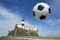 Fußball-Fußball Salvador Brazil Lighthouse Lizenzfreie Stockbilder