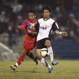 Fußball-Fußball-Spieler Lizenzfreies Stockfoto