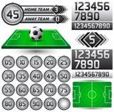 Fußball - Fußballanzeigetafel und -timer stock abbildung
