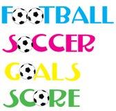 Fußball-Fußballfahnen Lizenzfreie Stockfotografie