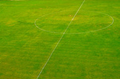 Fußball/Fußballplatz Stockbild