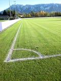 Fußball-Fußballplatz-Stadionsgras Lizenzfreies Stockbild