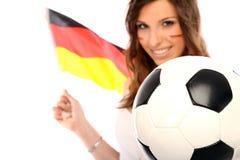 Fußball-Gebläse Stockfoto