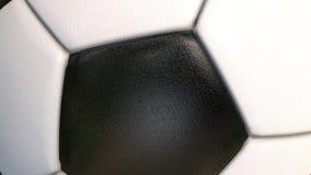Fu?ball - Gegenstandnahaufnahme des Sports 3D, belebt auf gr?nem Schirm stock footage