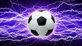 Fußball, helle Blitze Stockbild