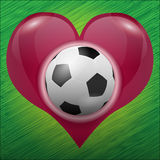 Fußball im Inneren von Stockfotografie
