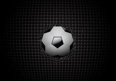 Fußball im Zielvektordesign Lizenzfreies Stockfoto
