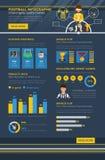 Fußball infographic stock abbildung