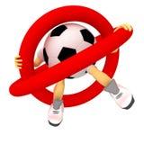 Fußball ist verboten Lizenzfreies Stockfoto