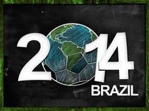 Fußball-Jahr-Tafel 2014 vektor abbildung