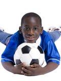 Fußball-Junge Stockfoto