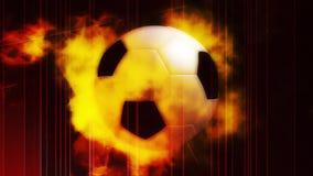 Fußball-Kugel auf Feuer stock footage