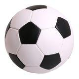 Fußball-Kugel getrennt auf weißem Hintergrund Lizenzfreie Stockfotografie