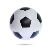 Fußball-Kugel getrennt auf weißem Hintergrund Lizenzfreies Stockbild