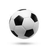 Fußball-Kugel (orange und blau) - getrennt auf Weiß Stockfotos