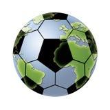 Fußball-Kugel-Welt Lizenzfreies Stockbild