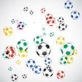 Fußball-Kugeln Vektor Abbildung