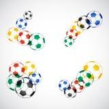 Fußball-Kugeln Stock Abbildung