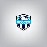 Fußball Logo Design Template, Fußballausweis-Teamidentität, Fußball-Fußball-T-Shirt Grafik Lizenzfreies Stockfoto