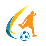 Fußball Logo Illustration lizenzfreie stockfotografie