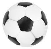 Fußball lokalisiert auf dem weißen Hintergrund stockfotos