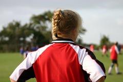 Fußball-Mädchen lizenzfreies stockfoto