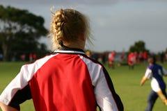 Fußball-Mädchen Stockbilder