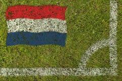 Fußball-Markierungsfahne stockfotografie