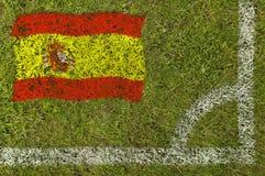 Fußball-Markierungsfahne lizenzfreie stockfotos