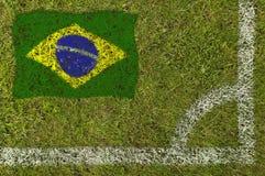 Fußball-Markierungsfahne lizenzfreie stockfotografie