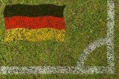 Fußball-Markierungsfahne stockbild