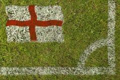 Fußball-Markierungsfahne lizenzfreies stockbild