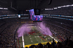 Fußball-Meister NFL-Superbowl, Confetti-Böe Lizenzfreies Stockbild