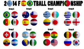 Fußball-Meisterschaft 2014 stock abbildung