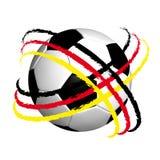 Fußball mit Markierungsfahne Stockfoto
