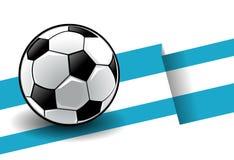 Fußball mit Markierungsfahne - Argentinien stock abbildung